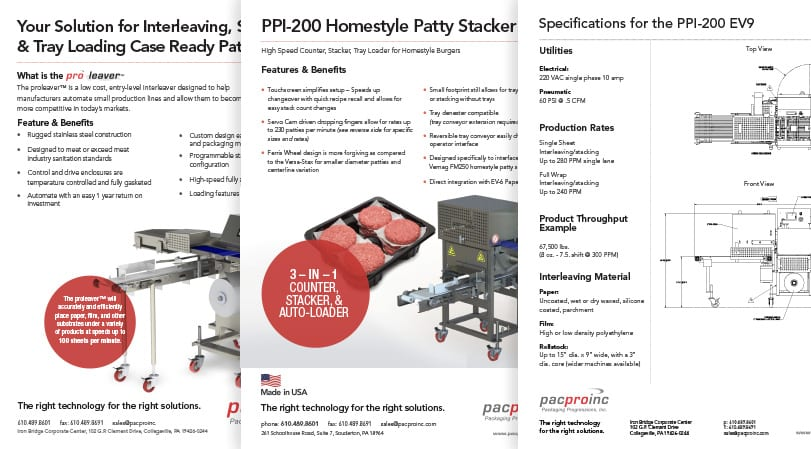 Pacproinc Sales Support Materials