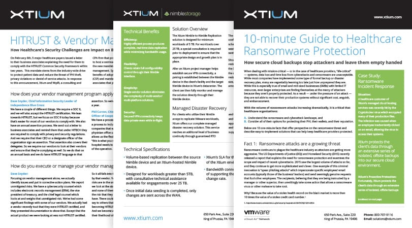 Xtium Data Sheets