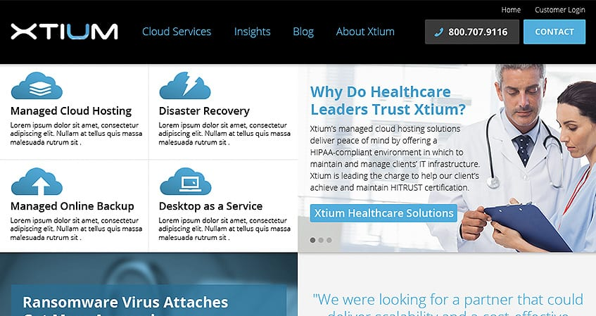 Xtium Home Page