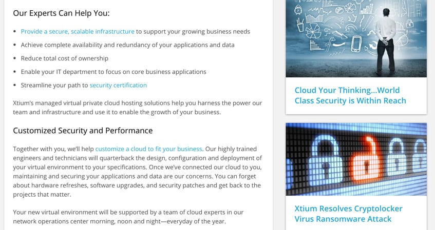 Xtium Cross Linking Page